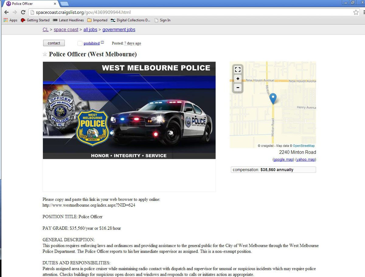 Agencies turn to Craigslist in hunt for recruits
