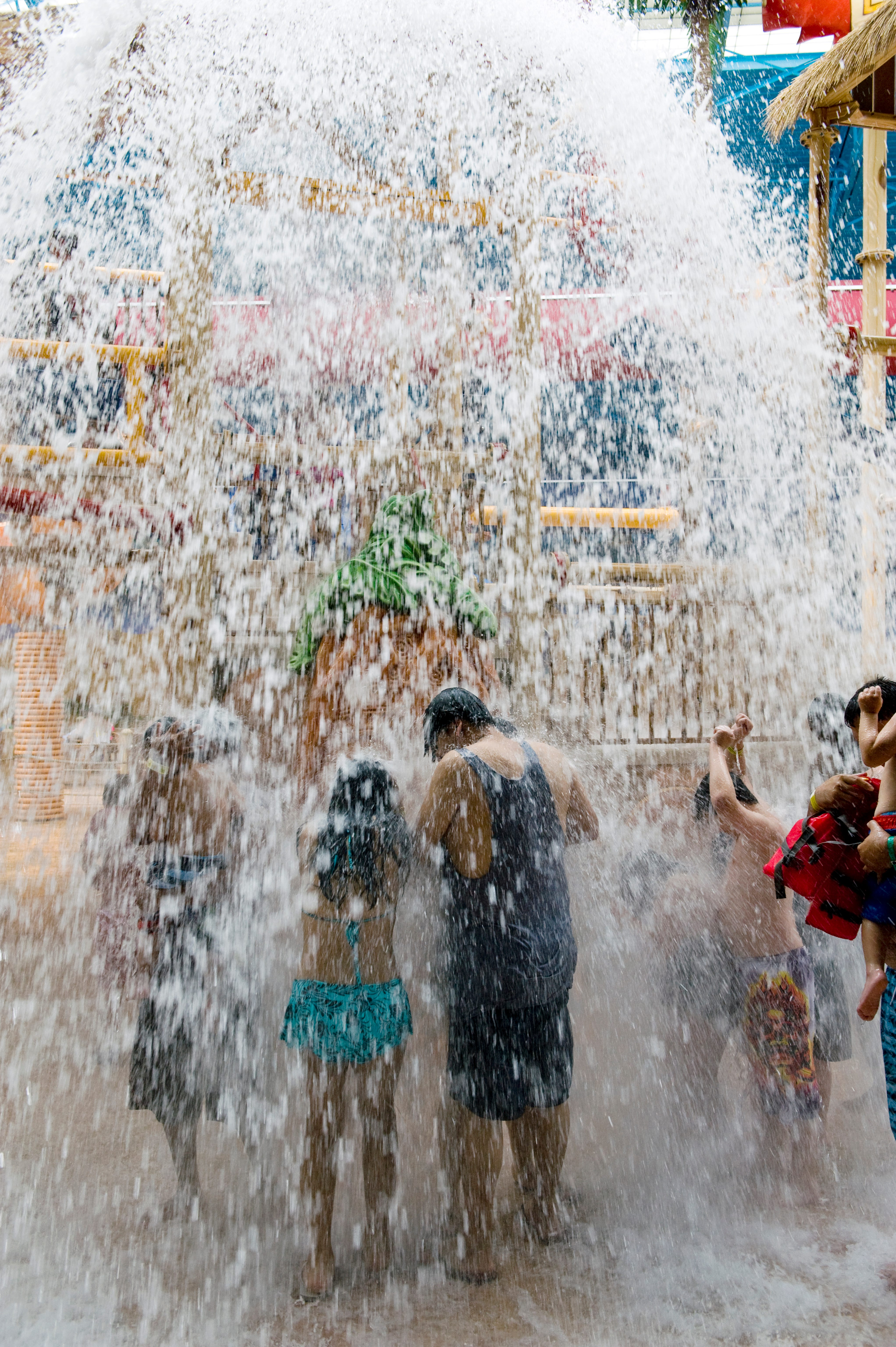 Visitors enjoy the indoor water park at Sahara Sam. The park offers indoor fun throughout the year and outdoor fun during the summer.