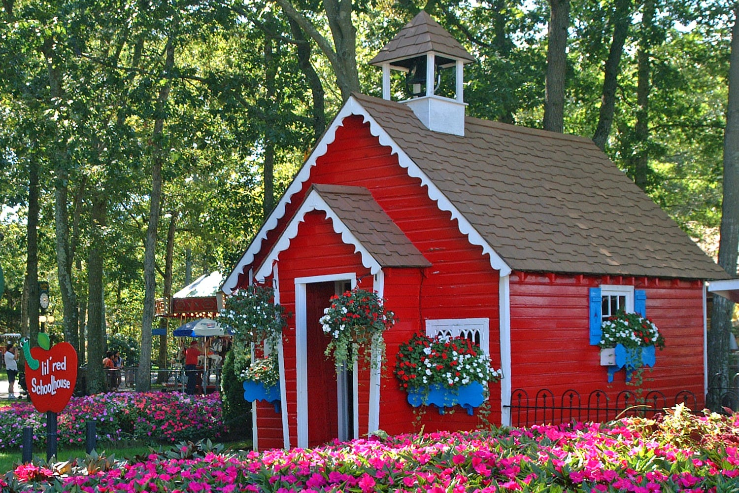 The Little Red Schoolhouse is among the attractions at Storybook Land in Egg Harbor Township.