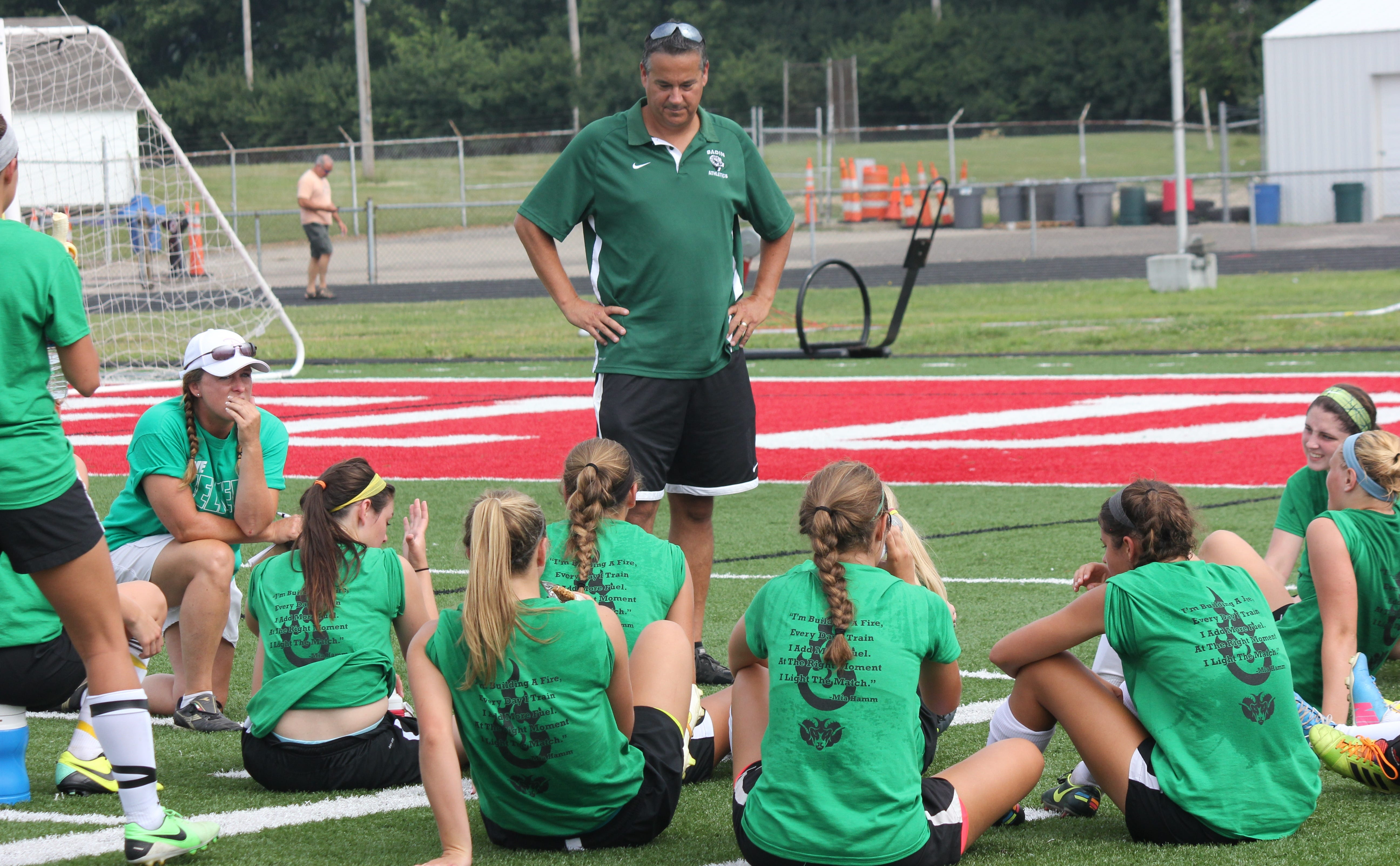 Badin head coach Todd Berkely has 16 players returning to defend the D-III state title.