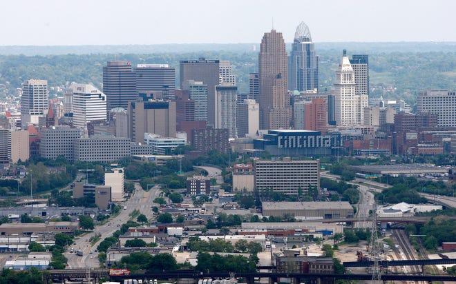 The Cincinnati skyline.