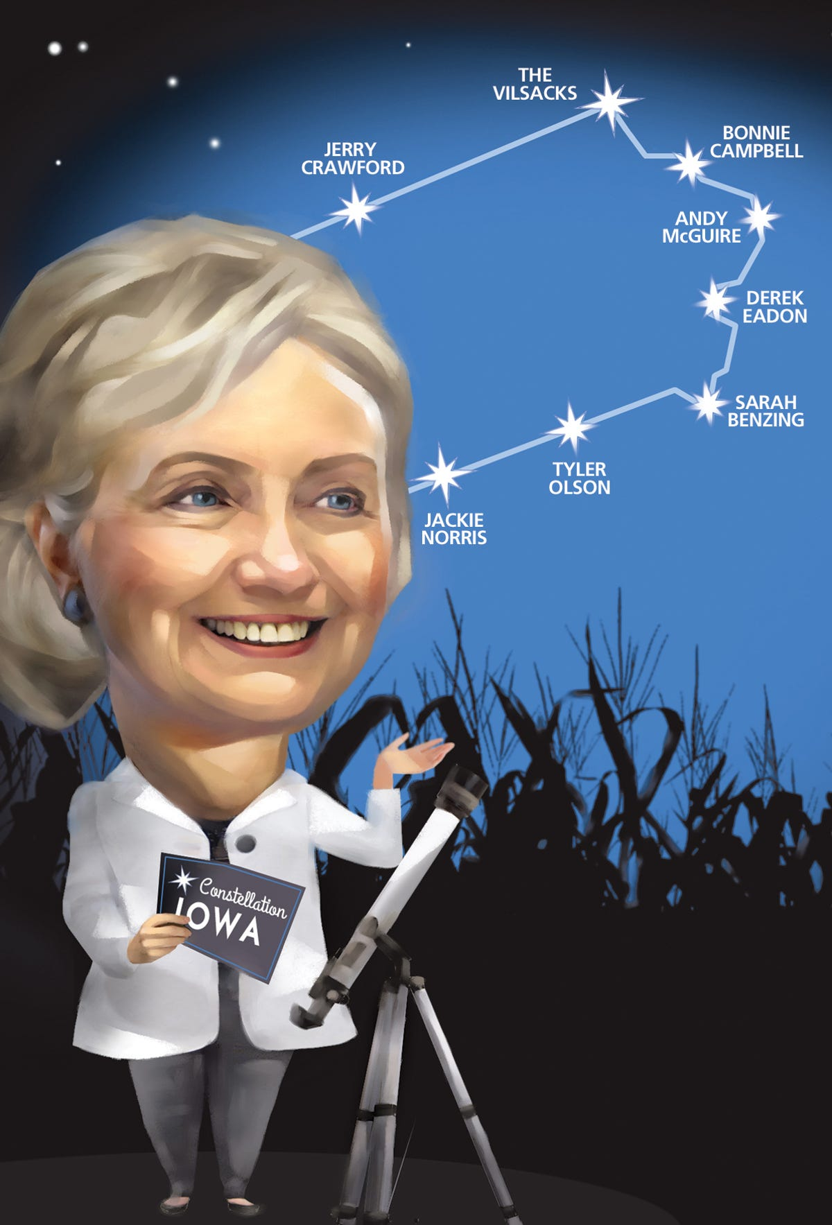 Harkin salute is just a part of Hillary Clinton's visit