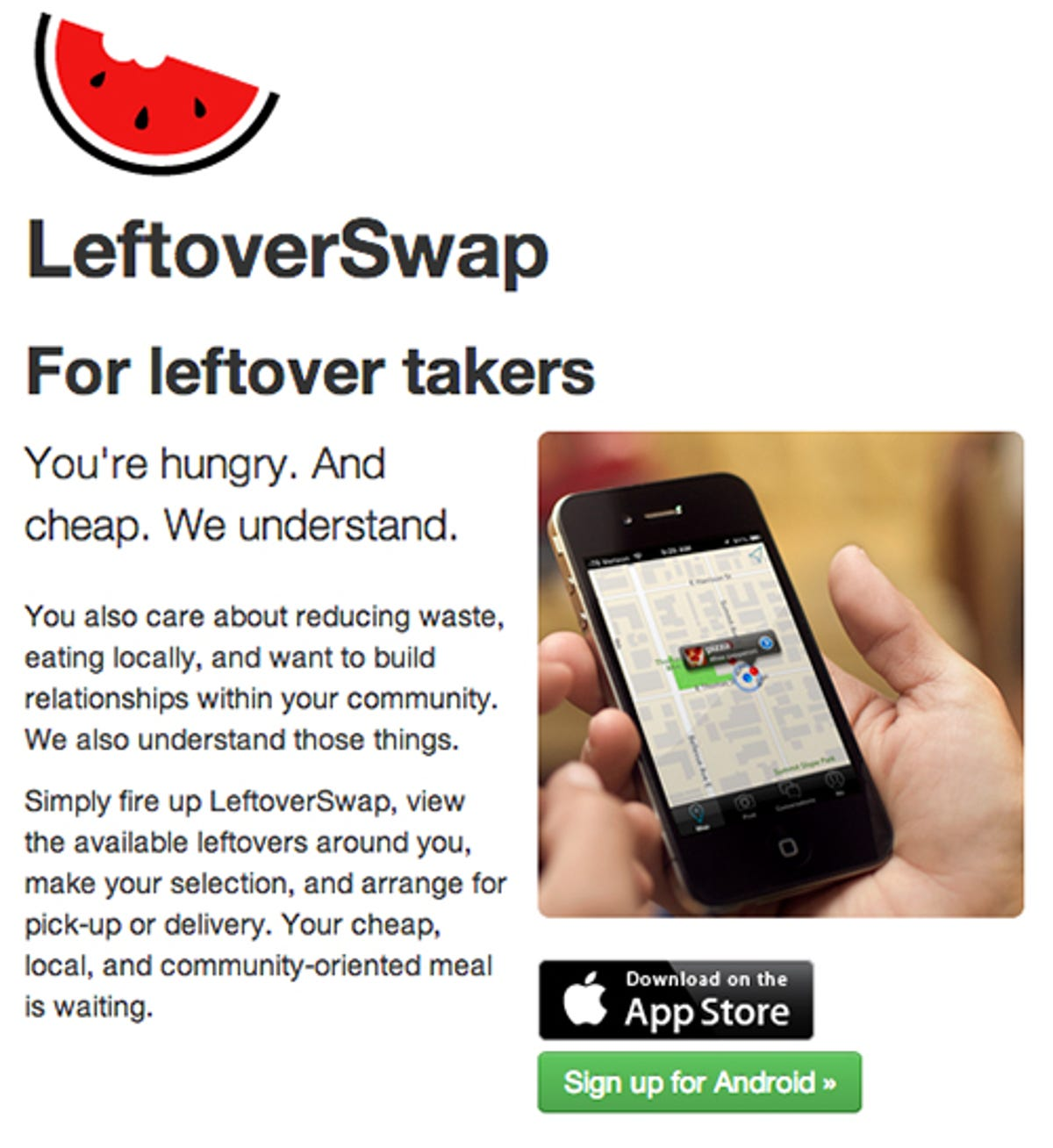 New app lets you share leftovers - Would you take leftovers