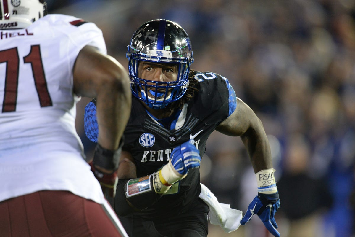 new product 2f0df fb94a Kentucky football's Bud Dupree, one of four Cats at the NFL ...