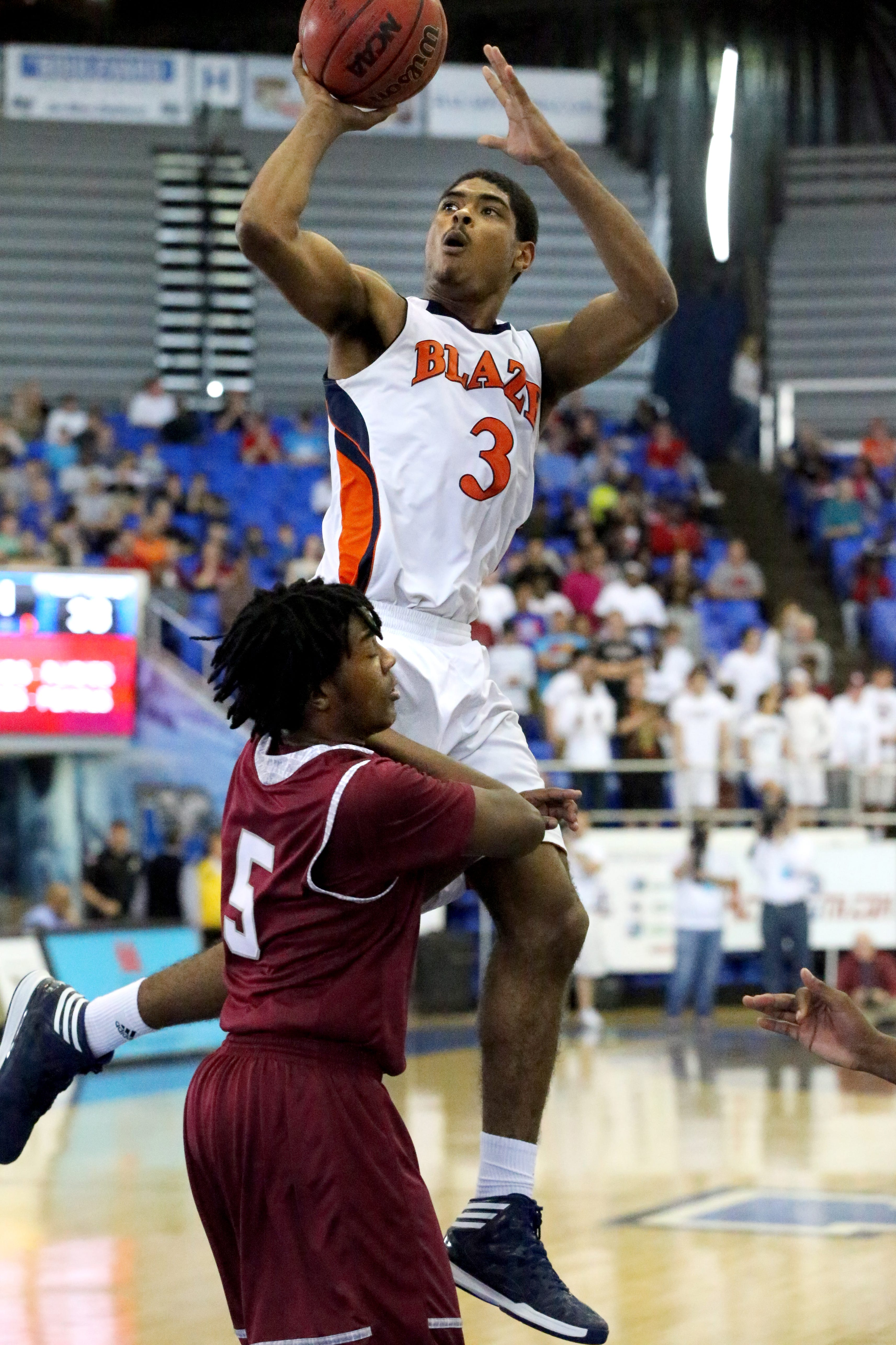 Blackman's Jauan Jennings has the potential to be a top-200 basketball player, his coach says.