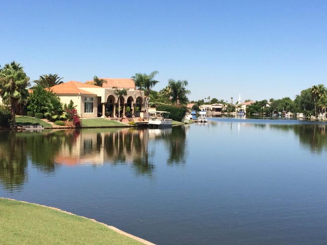 File photo of the Val Vista Lakes community in Gilbert.