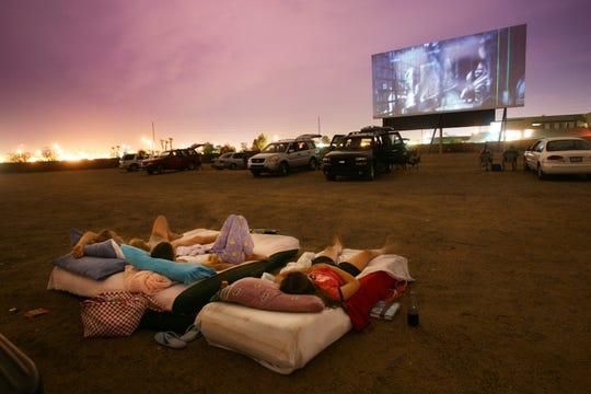 A drive-in movie theatre.