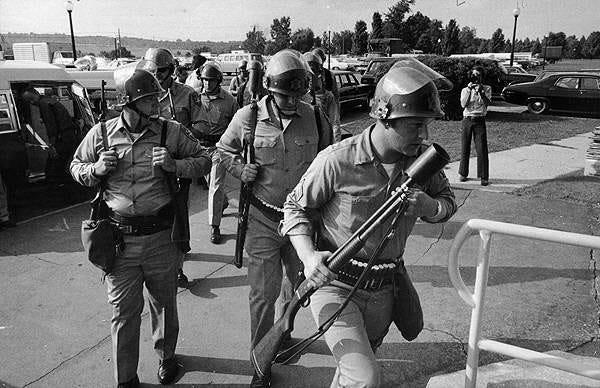 State troopers prepare to storm Attica prison in 1971.