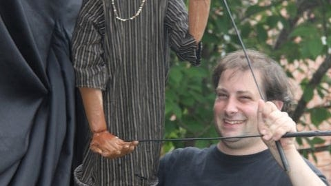 A Catskill puppeteer in Brockport during the summer of 2011.