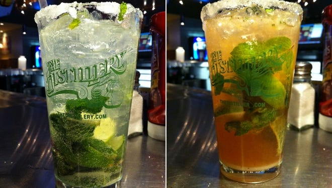 The Distillery's offerings include a traditional mojito, left, made in a non-traditional way, and a strawberry mojito.