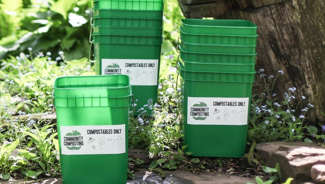 Community Composting customers get buckets to fill weekly.