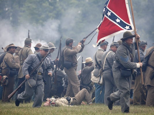 Civil War battle re-enactment