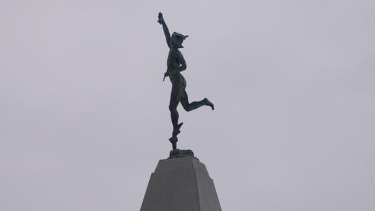 Mercury sits atop the headquarters of Thomson Reuters' legal division in Rochester.