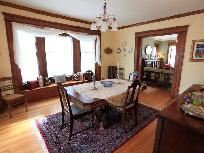 The dining room at 202 Westminster Rd in Rochester. The home will be on the Landmark Society's House and Garden Tour.