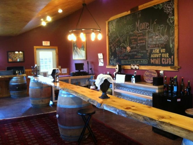 The interior of the Wayne County tasting room.