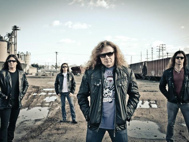 For Megadeth's Dave Mustaine, front, life is best seen with 360-degree vision. The band plays Saturday at Constellation Brands-Marvin Sands Performing Arts Center as part of Gigantour.