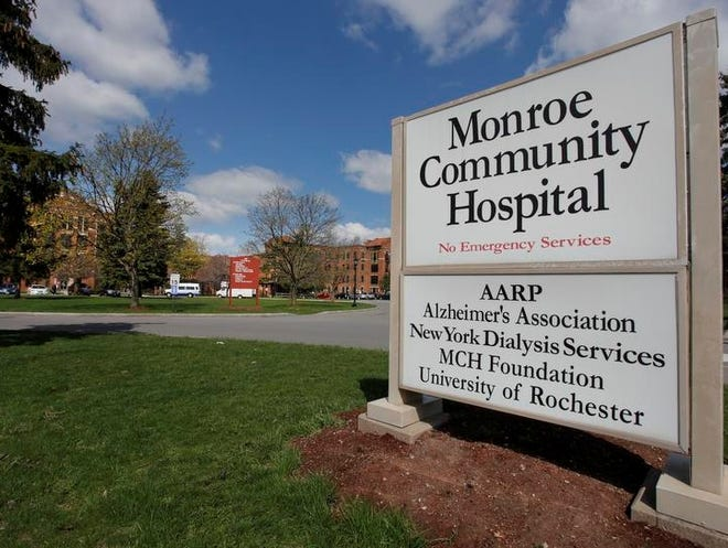 Entrance to Monroe Community Hospital.