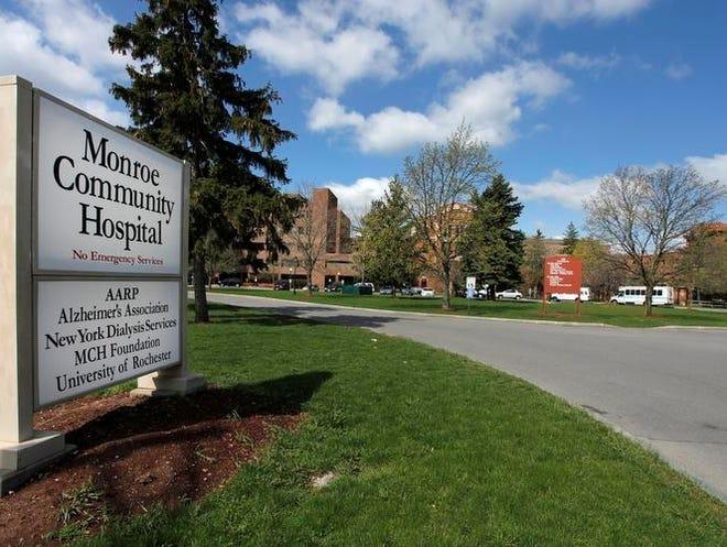 Entrance to Monroe Community Hospital.
