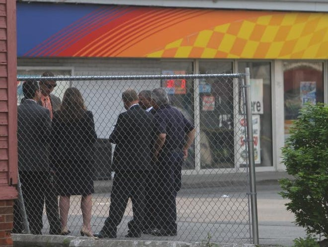 Rochester police investigate a shooting at Dewey and Lexington Avenues in Rochester on May 30, 2013.  Police are investigating a homicide.  A man was found down and died later at the hospital.