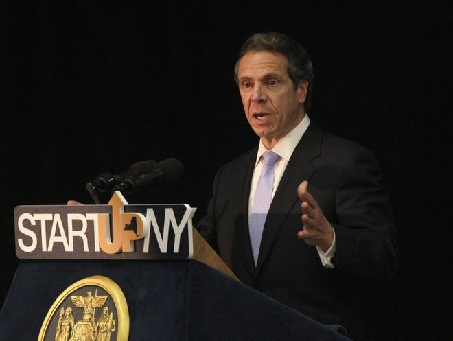 Gov. Andrew Cuomo was at MCC to discuss his Tax-Free Zones  proposal on SUNY campuses to help spur the NYS economy.