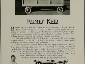 An ad in The Book of Industrial Rochester touts the benefits of the Adjustable Sales Corp.'s Kumfy Krib.