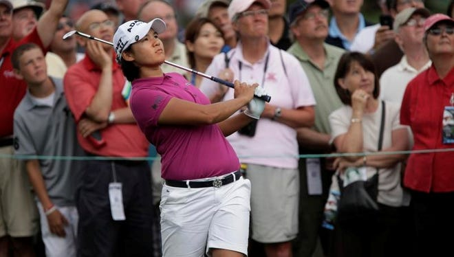 Yani Tseng  hits to 2 at the Wegmans LPGA Championship, Sunday, at Locust Hill Country Club. (Democrat and Chronicle - staff photographer Annette Lein - 06/26/2011)