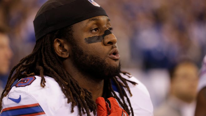 Buffalo Bills middle linebacker Kelvin Sheppard during the first half of a game last year against the Colts.