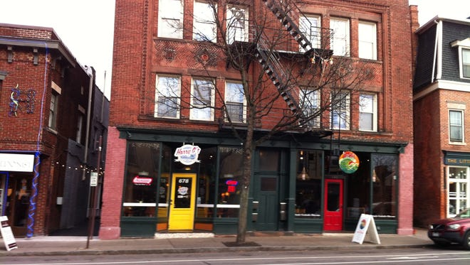 Harry G's New York Deli , Cafe, Banzai Sushi and Cocktail Bar and The Little Bleu Cheese Shop are neighbors on South Avenue.