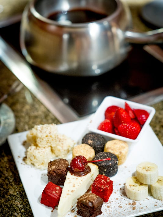 The Melting Pot's chocolate fondue.