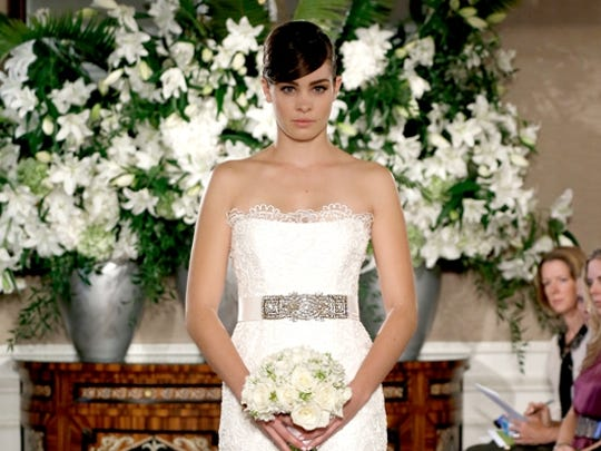 New bridal collections are dominated by dresses with no sleeves.