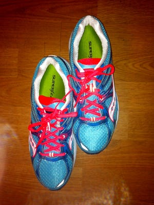 My new Saucony running shoes.