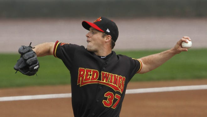 Red Wings starting pitcher Andrew Albers