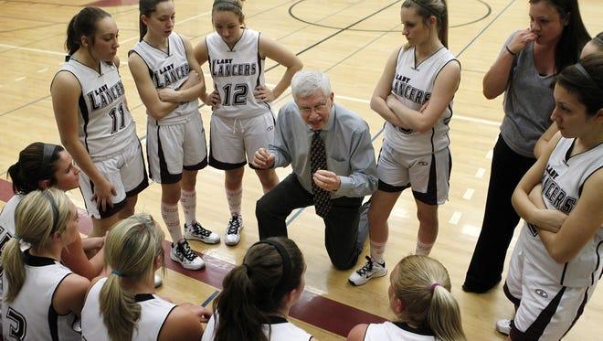 A file photo of Tom Nowak, head coach of the Elba's girls basketball team.