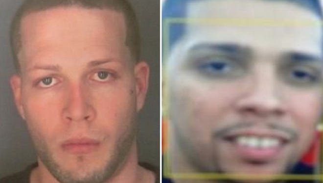 Jonathan Rivera, left, and Andres Escalera are wanted by the Geneva Police in connection with an officer involved shooting.