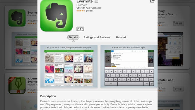 Evernote helps user organize ideas, images and tasks in one app.