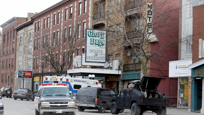 A file photo of the crime scene in Herkimer in March.