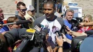 Bills rookie quarterback EJ Manuel meets the media crush on Friday at St. John Fisher College.