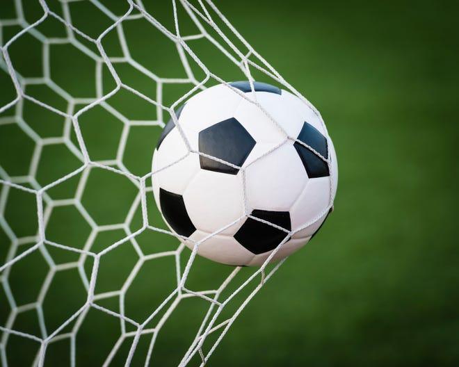 Stock photo: Soccer Ball in Net