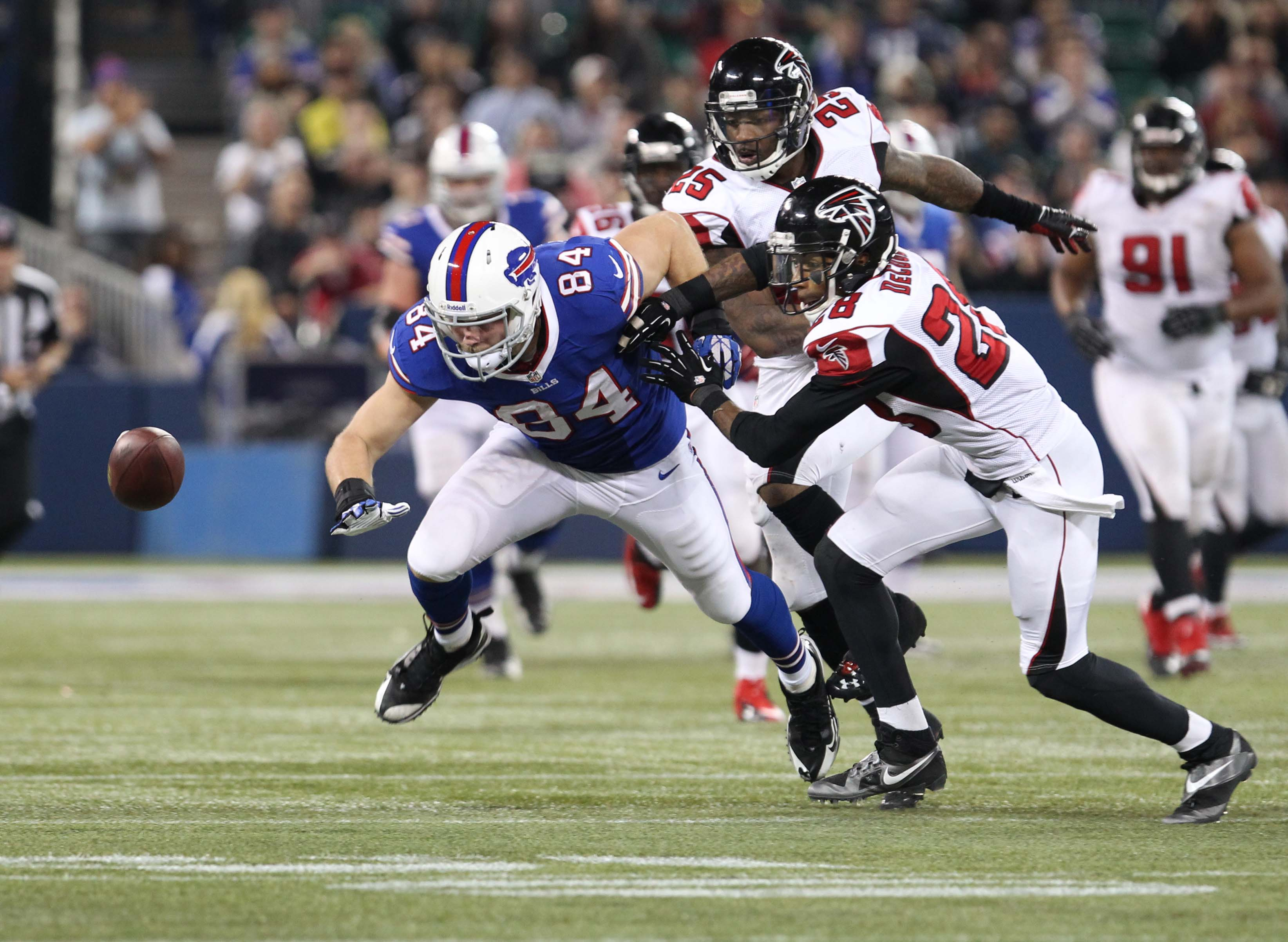 Late fumbles lead to Buffalo Bills' loss in Toronto