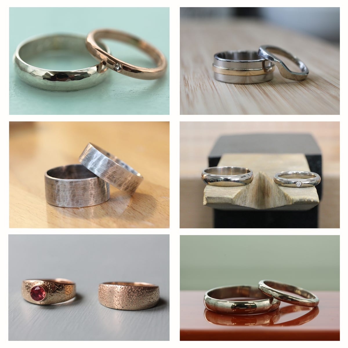 Custom wedding bands made from gold teeth and more