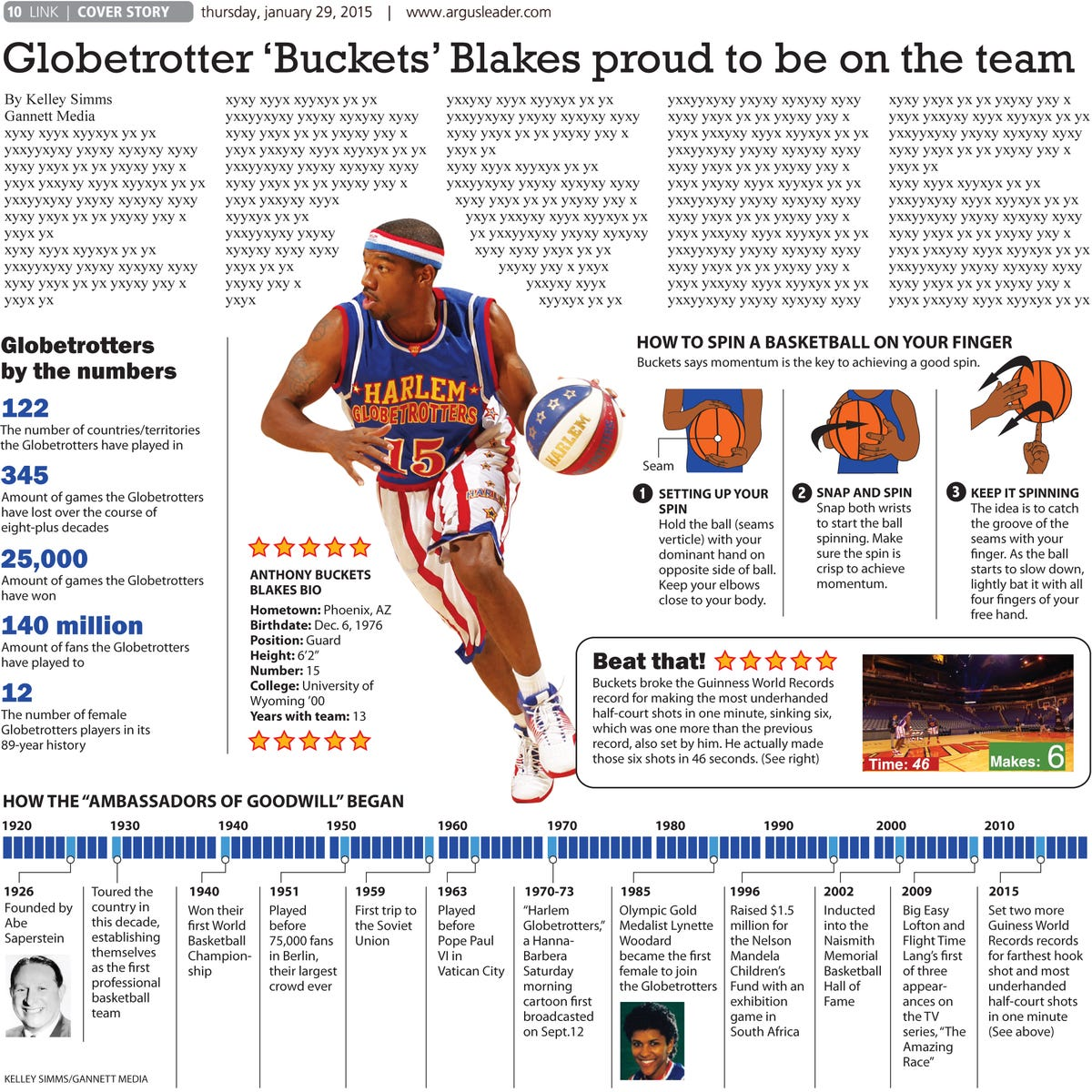 Globetrotters to visit Sioux Falls