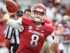 Arkansas is hopeful quarterback Tyler Wilson will be available when the Razorbacks play No. 1 Alabama this week.