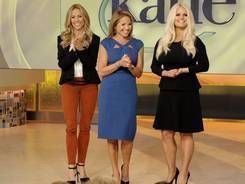 First day: Katie Couric, center, with guests Sheryl Crow, left, and Jessica Simpson.