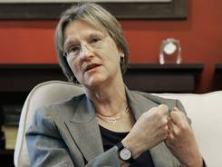 Harvard president Drew Faust, seen here in 2009, says that athletes are not being treated any differently in the investigation.