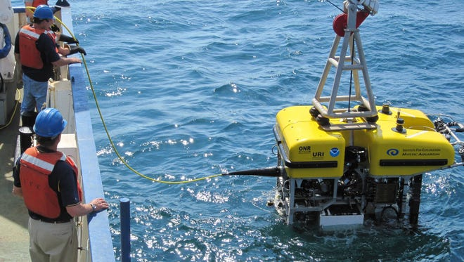 The remotely operated vehicle Hercules sets off to explore the depths of the Black Sea in an expedition led by Robert Ballard.