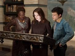 Viola Davis, left, Alice Englert and Alden Ehrenreich star in 'Beautiful Creatures,' out Feb. 13.