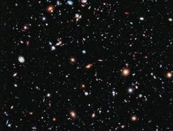 The eXtreme Deep Field, or XDF, photo was assembled by combining 10 years of NASA Hubble space telescope photographs.