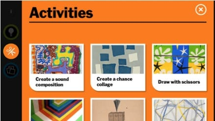 MoMA Art Lab lets kids create collages and explore real works of art.