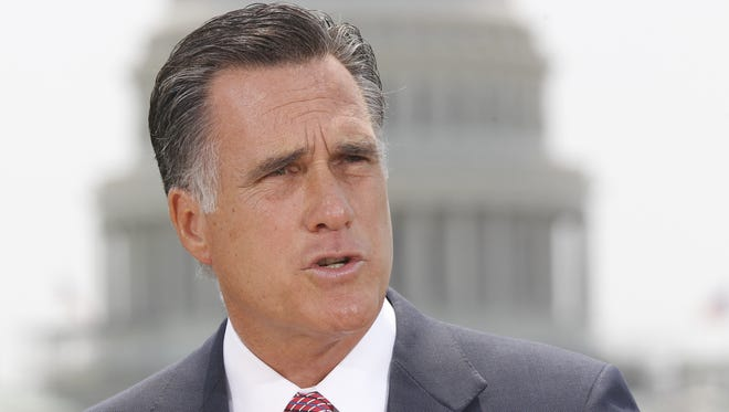 Mitt Romney speaks about the Supreme Court in Washington, June 28, 2012.
