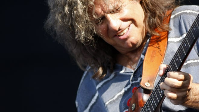 Pat Metheny performs at  the Newport Jazz Festival in Newport, R.I., in August.